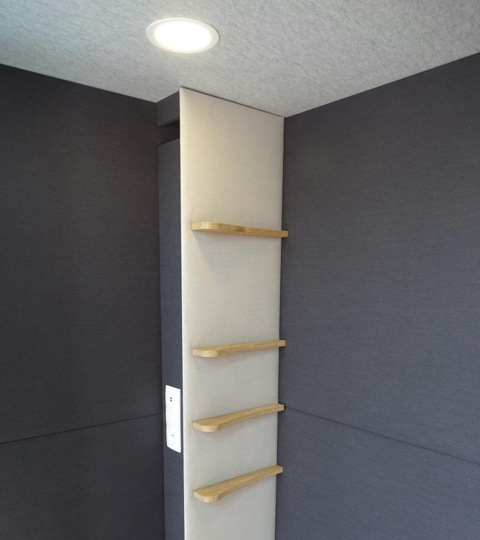 Eclairage modulable, ventilation, grande baie vitrée... tout pour le confort !