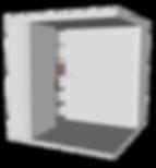 Cabine acoustique pliable OCO Serie L+ ouverte