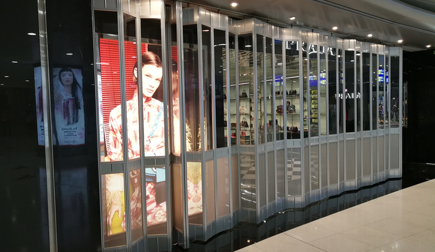 ClearVision Folding Shutter Door
