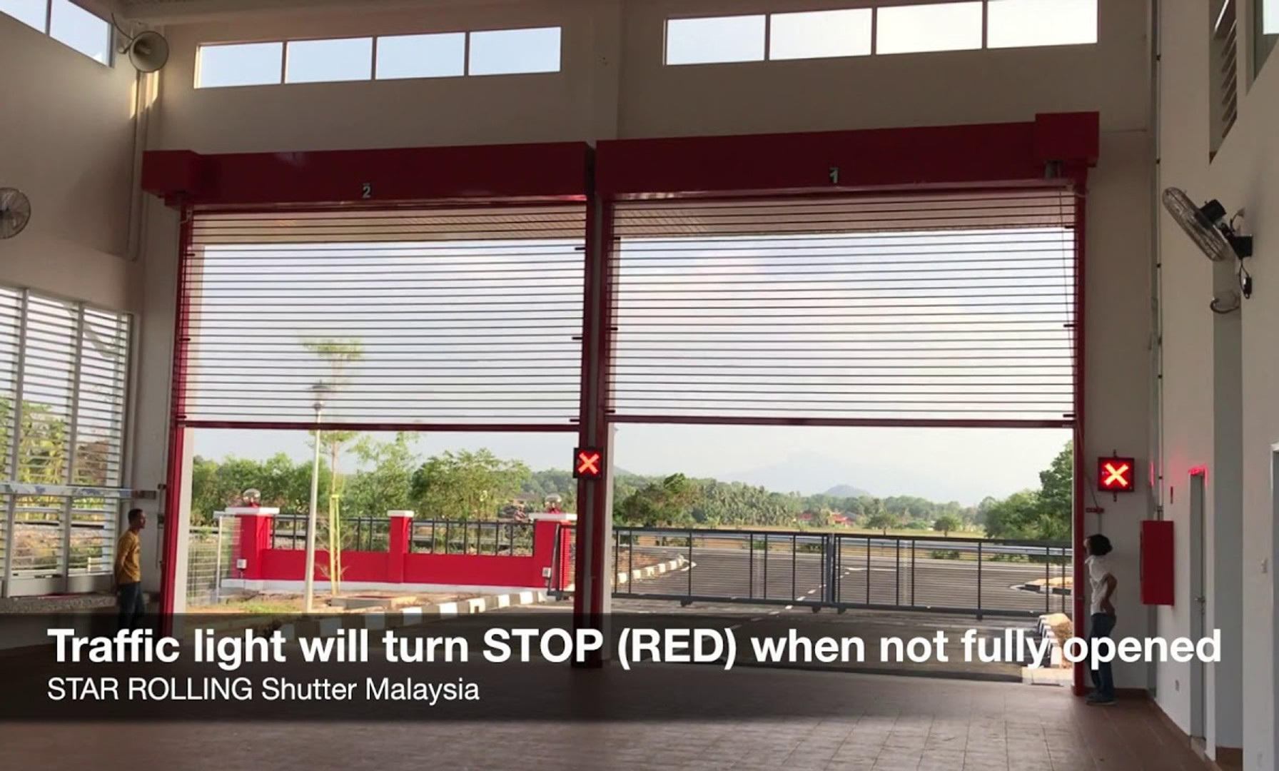 STAR ROLLING ClearVision® Transparent Shutter @ BOMBA Fire Station Malaysia