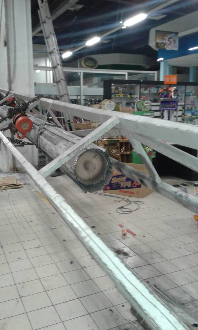 Roller Shutter Drum Pipe Collapsed