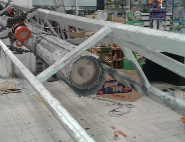 Roller Shutter Drum Pipe Collapsed