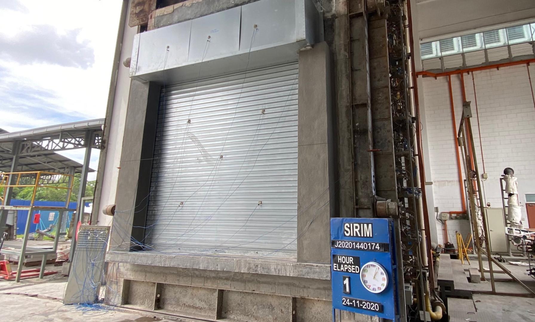 Malaysia Insulated Fire Shutter 1 Hour