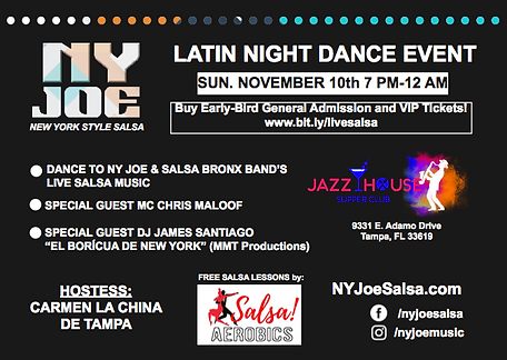 November 10, 2019 — Jazz House Supper Club in Tampa, FL
