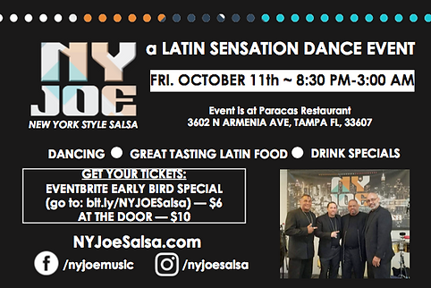 October 11, 2019 — Latin Sensation Dance Event