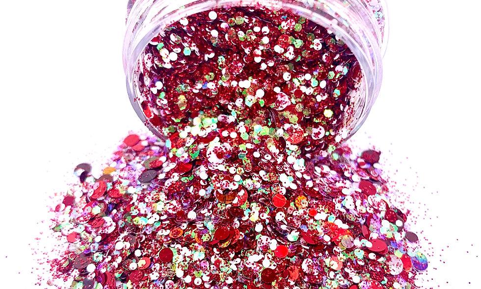 Candy Cane Multichunk Glitter