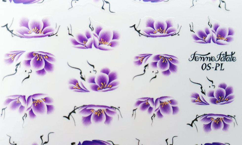 One Stroke Flower - Purple