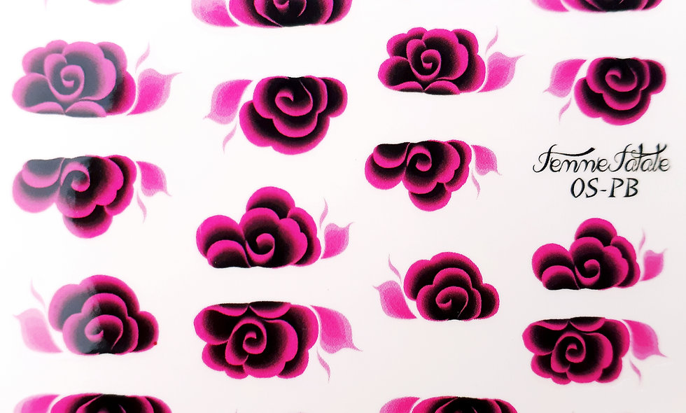 One Stroke Flower - Black and Pink