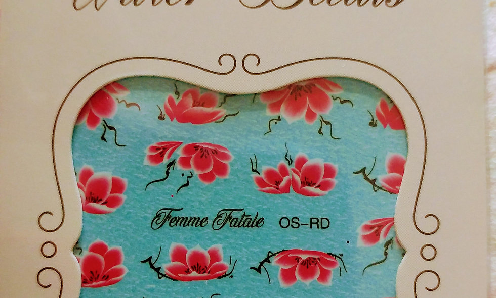 One Stroke Flowers - Red/Raspberry