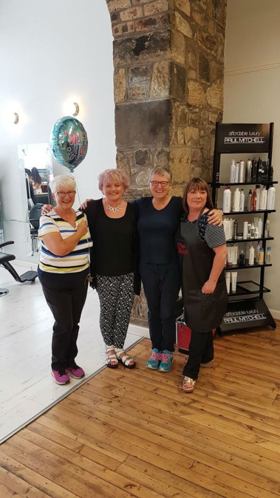 Margaret and Shirley with Lorraine and Donna