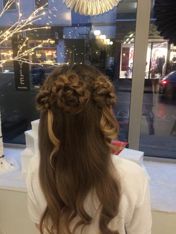 Boho hairup
