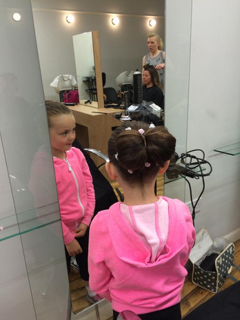 Bow hair up