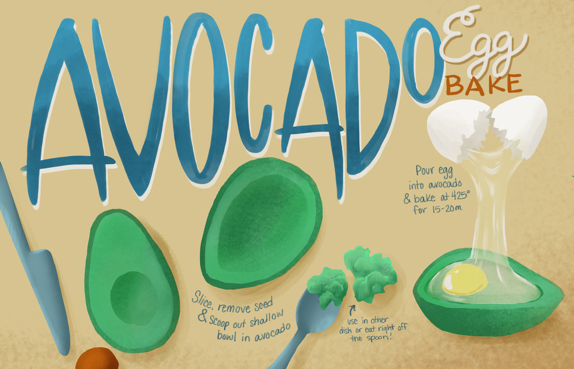 Avocado Egg Bake