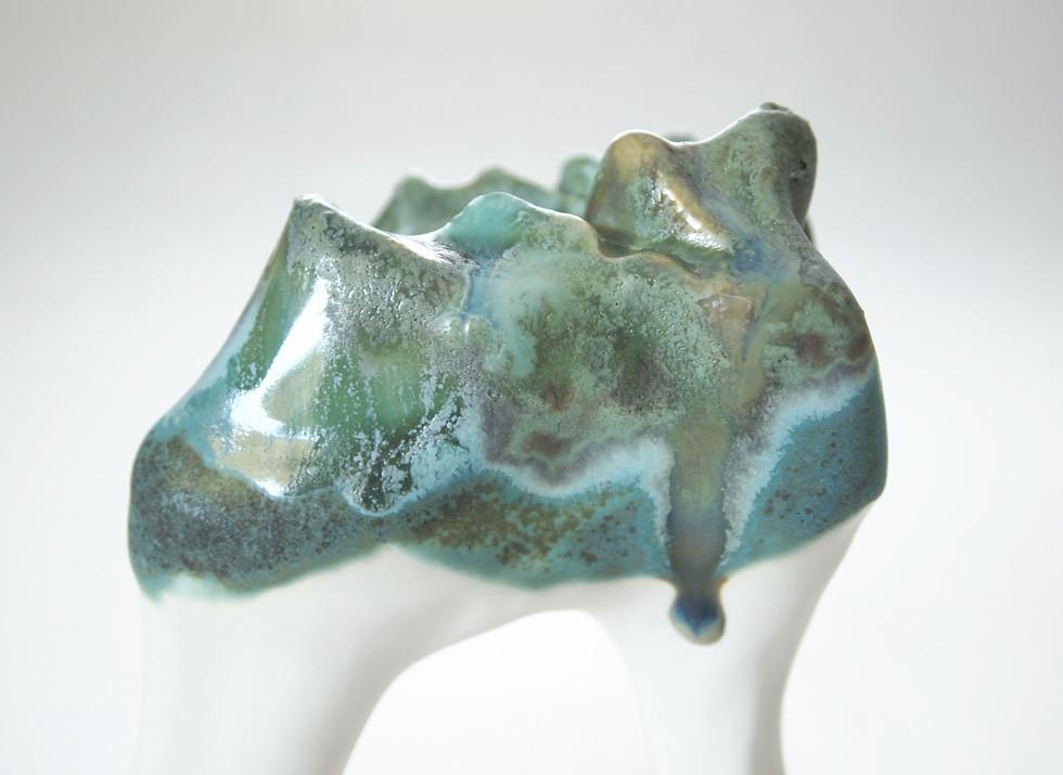 Slip-casted porcelain, 2018.  Privat collection.