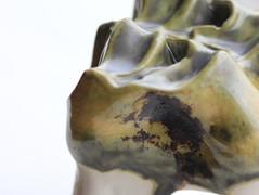 Slip-casted porcelain, oxidation, 2019.