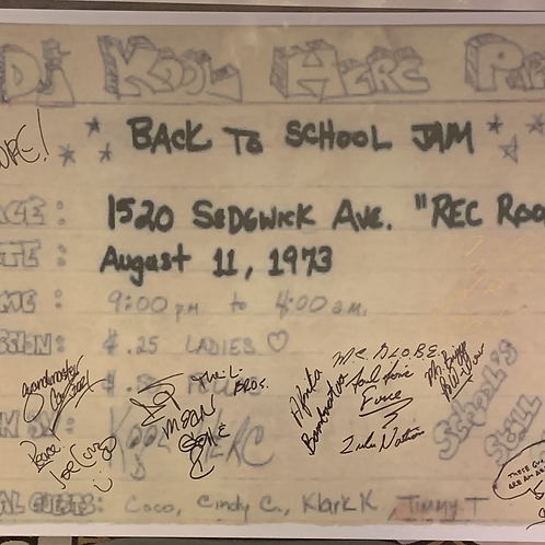 """RARE 1520 Sedgwick Ave Foam Core Poster 18""""x24"""" Signed (see details)"""