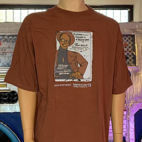 """Sedgwick & Cedar """"Ecstasy Garage Vintage Flyer"""" XXL Tee (Brown)"""