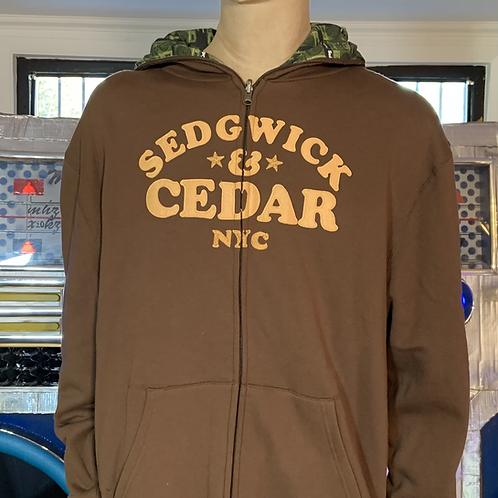 "Sedgwick & Cedar ""NYC 73"" Lined Hoodie XXL (Brown)"