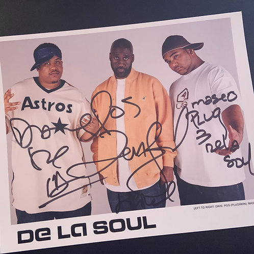 Vintage 8x10 Glossy of De La Soul (Signed by ALL 3)