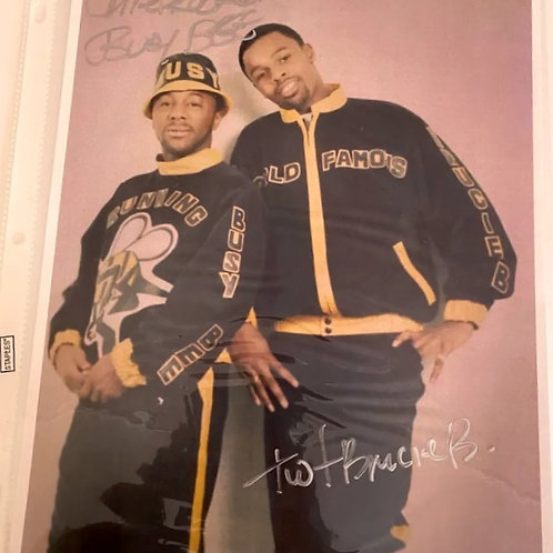 Busy Bee & DJ Brucie B (Autographed Picture)