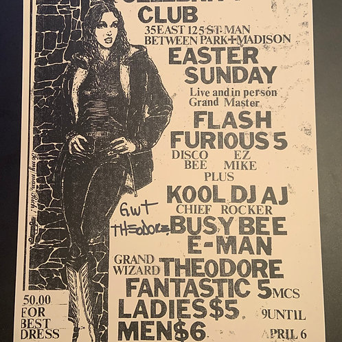 Rare Furious 5 & Fantastic 5 Flyer Copy (Signed by Grandwizzard Theordore)