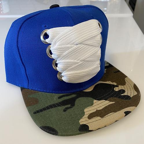 THC Fat Lace Felt HHM Hat (Blue/Camo)