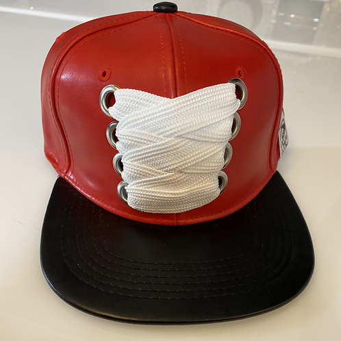 THC Fat Lace Leather HHM Hat (Red/Black)