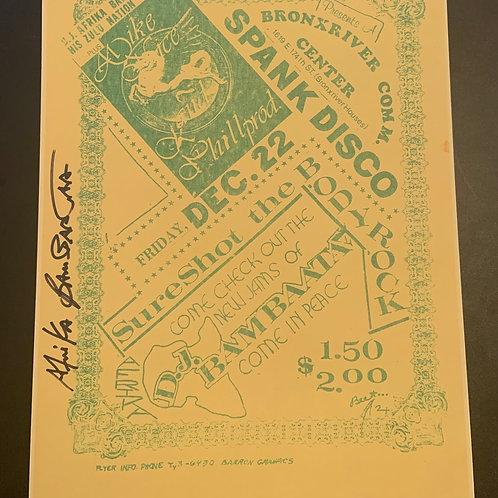 Rare Afrika Bambaata Flyer Copy (Signed by Afrika Bambaata)