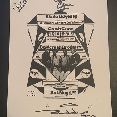 Super Rare Buddy Esquire Cold Crush Flyer Copy (Signed)
