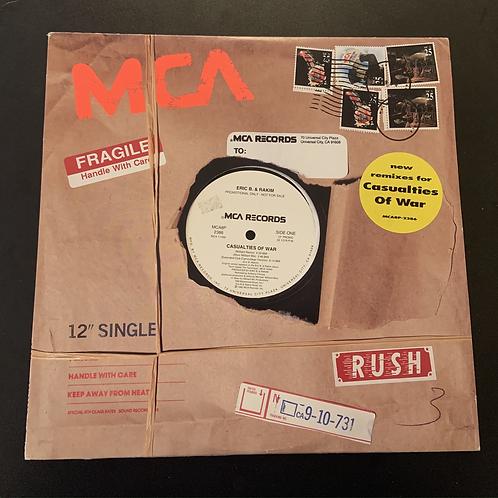 """Rakim """"Casualties of War"""" (Remixes) Promo 12"""" Vinyl"""