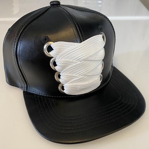 THC Fat Lace Leather HHM Hat (Black/Black)