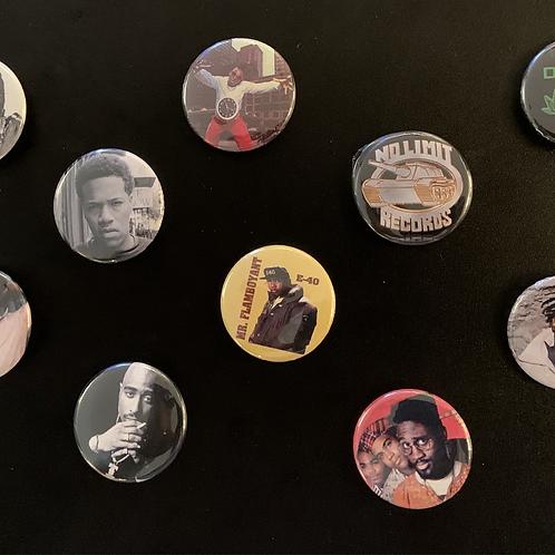 Classic Hip-Hop Pins (Set of 10)