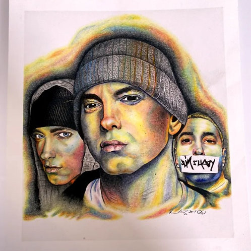 "Eminem 5""x5"" Print by Kevin Carmody"