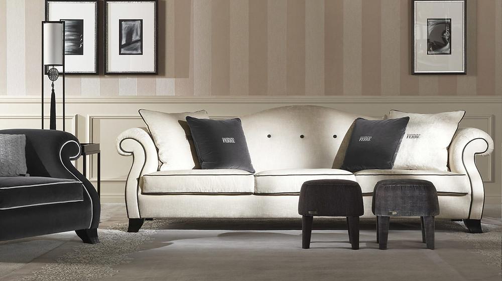 Sofá clásico de lujo en Madrid