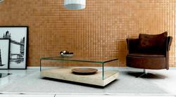 mesa de centro de marmol travertino