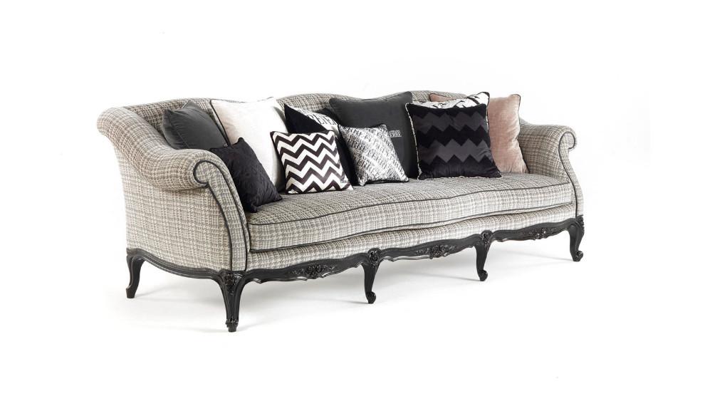 Sofa clásico con madera