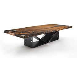 Tapa madera maciza y resina epoxy