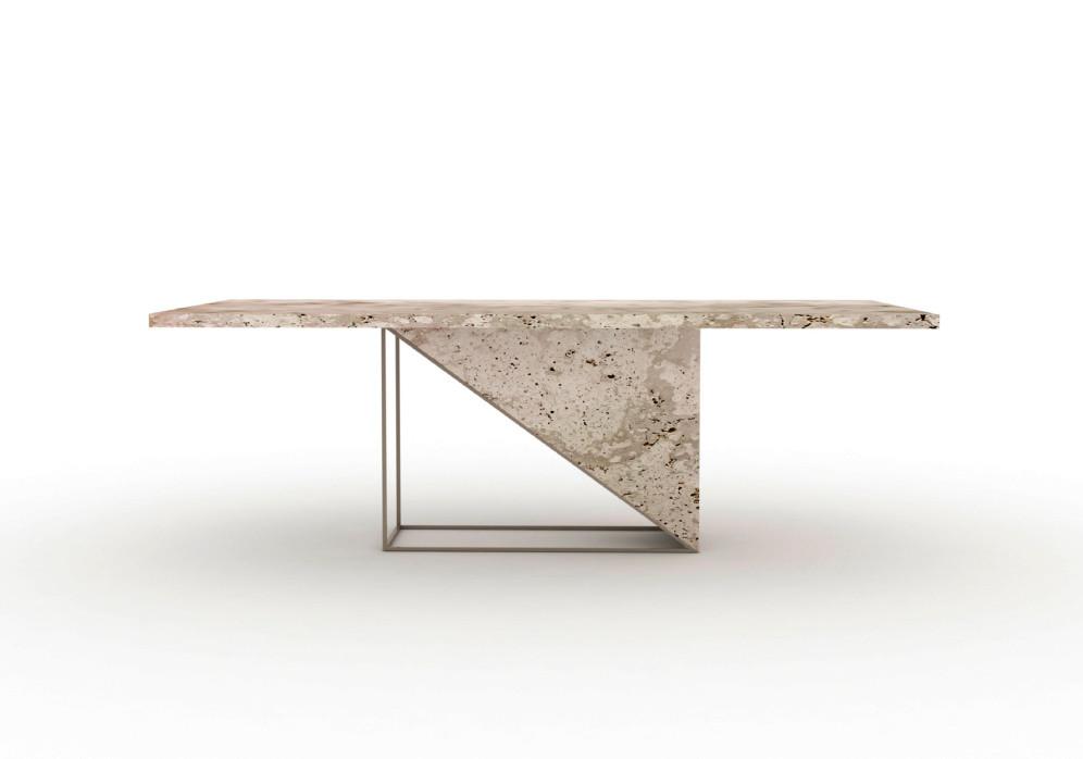 Mesa con tapa de mármol