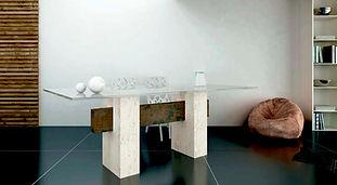 mesa de comedor de marmol travertino.jpg