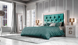 cama tapizada contemporánea