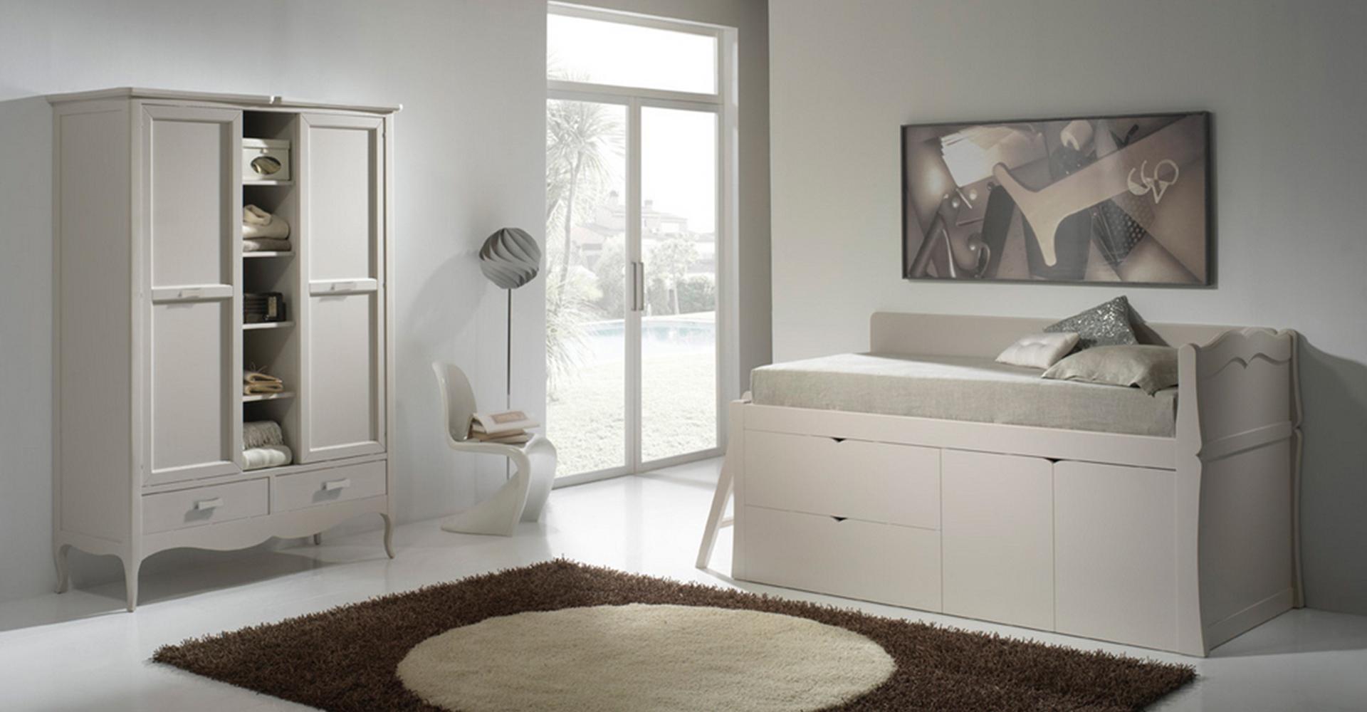 habitacion juvenil con cama compacta