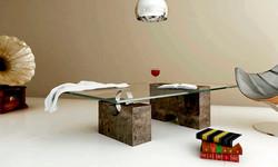 mesa de centro de marmol imperio