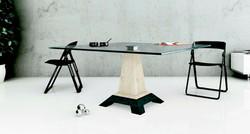 pie de mesa de marmol