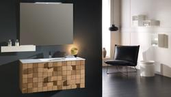 Mueble de Baño de Diseño en Madera