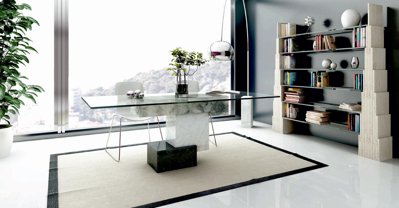 Mesa de Piedra con Crital
