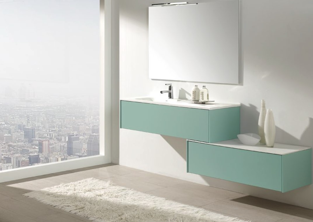 Mueble de Baño Verde Agua