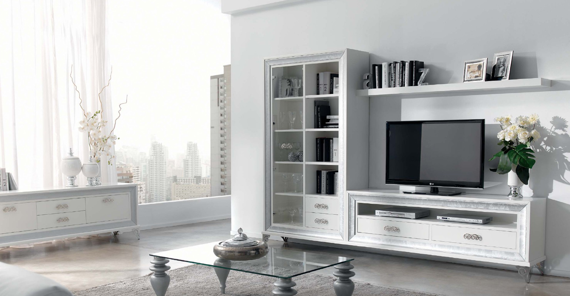 Mueble  Contemporáneo en Blanco