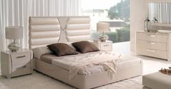 cabecero tapizado blanco crema