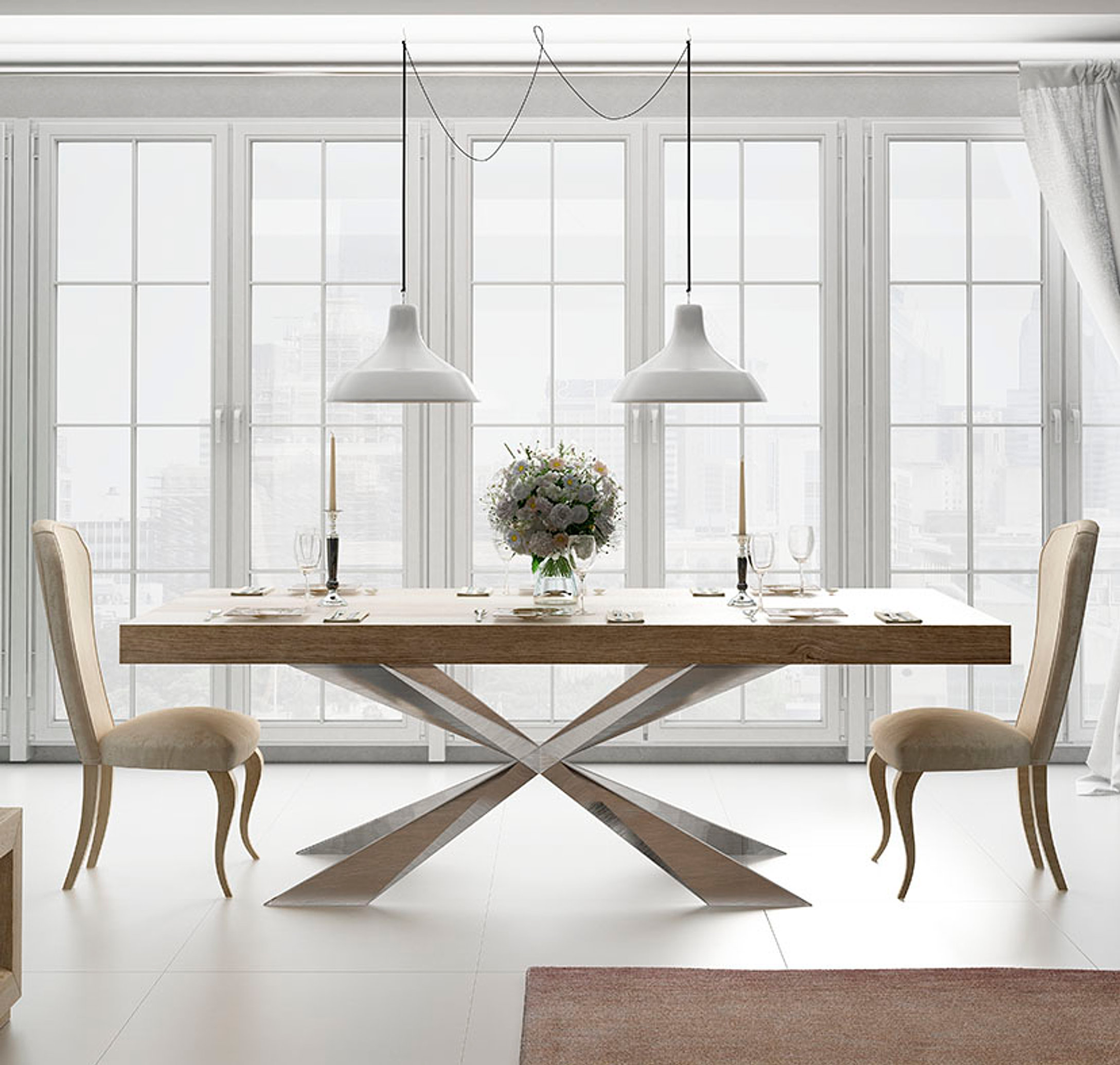 Mesas de comedor modernas muebles monen madrid for Mesas comedor madrid