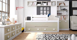 cama compacta con cajones